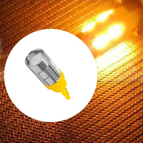 2Pcs T10 158 194 168 W5W 5730 10 smd led Car Light Bulb Lamp super Amber//Yellow