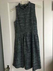 2897e0de Image is loading Ganni-Anthropologie-Fit-and-Flare-Knit-Dress-Size-