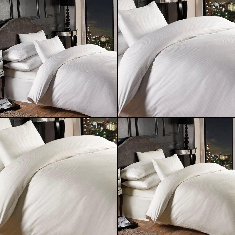 Grosvenor 1000TC Cotton Rich Duvet Startseite Set Weiß Cream