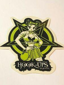 Hook-Ups-HOOK-UPS-Vintage-Skateboard-Sticker-Original-Genuine-Series-2079619