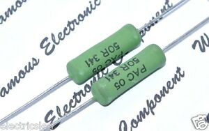 1pcs-Vishay-BC-PAC05-500R-ohm-5W-1-Cemented-Wirewound-Resistor