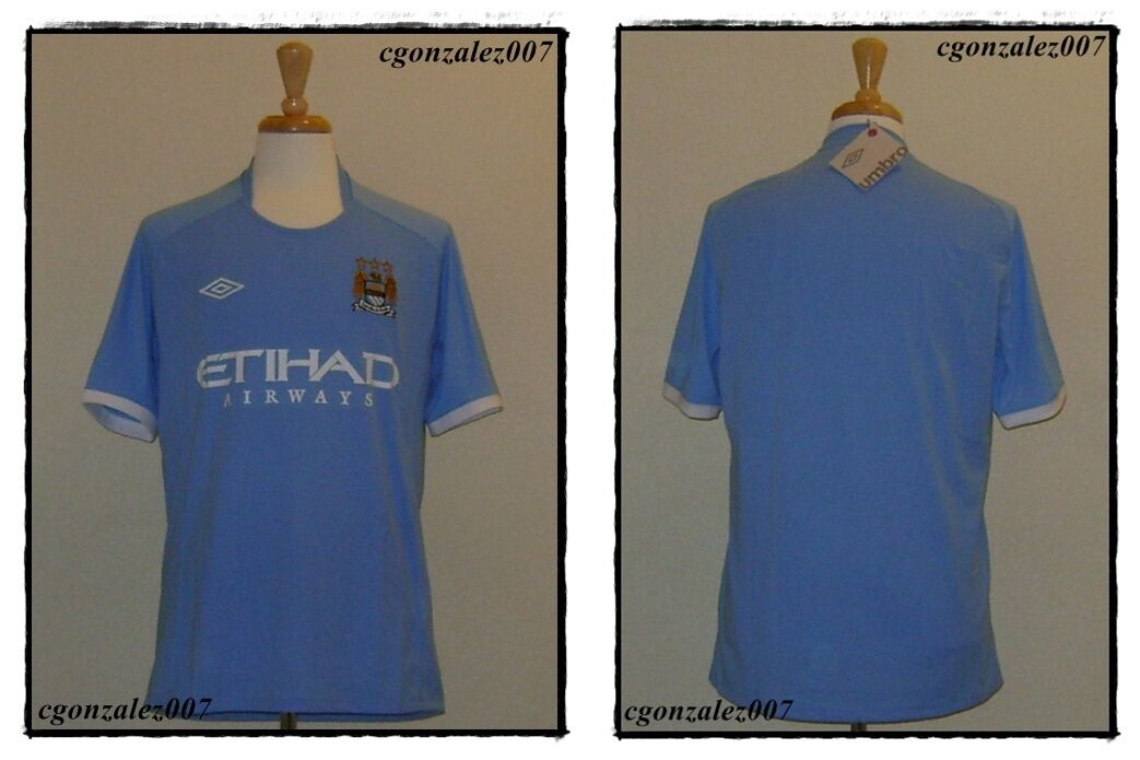 Umbro Manchester City Fc MCFC Soccer Futbol Jersey Inglaterra Epl BPL Fa Para Hombre