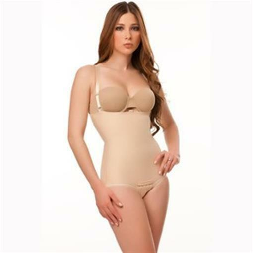 Isavela BS02 Stage 2 Body Suit with Suspenders-Panty Suspenders-Panty Suspenders-Panty Length Small - Beige adbd1f