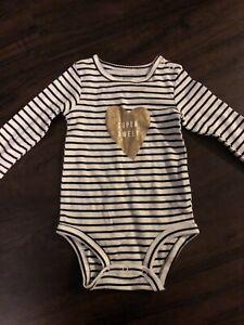 NWT Carter/'s 12 18 Months Girl/'s 1st Birthday Bodysuit+Bib
