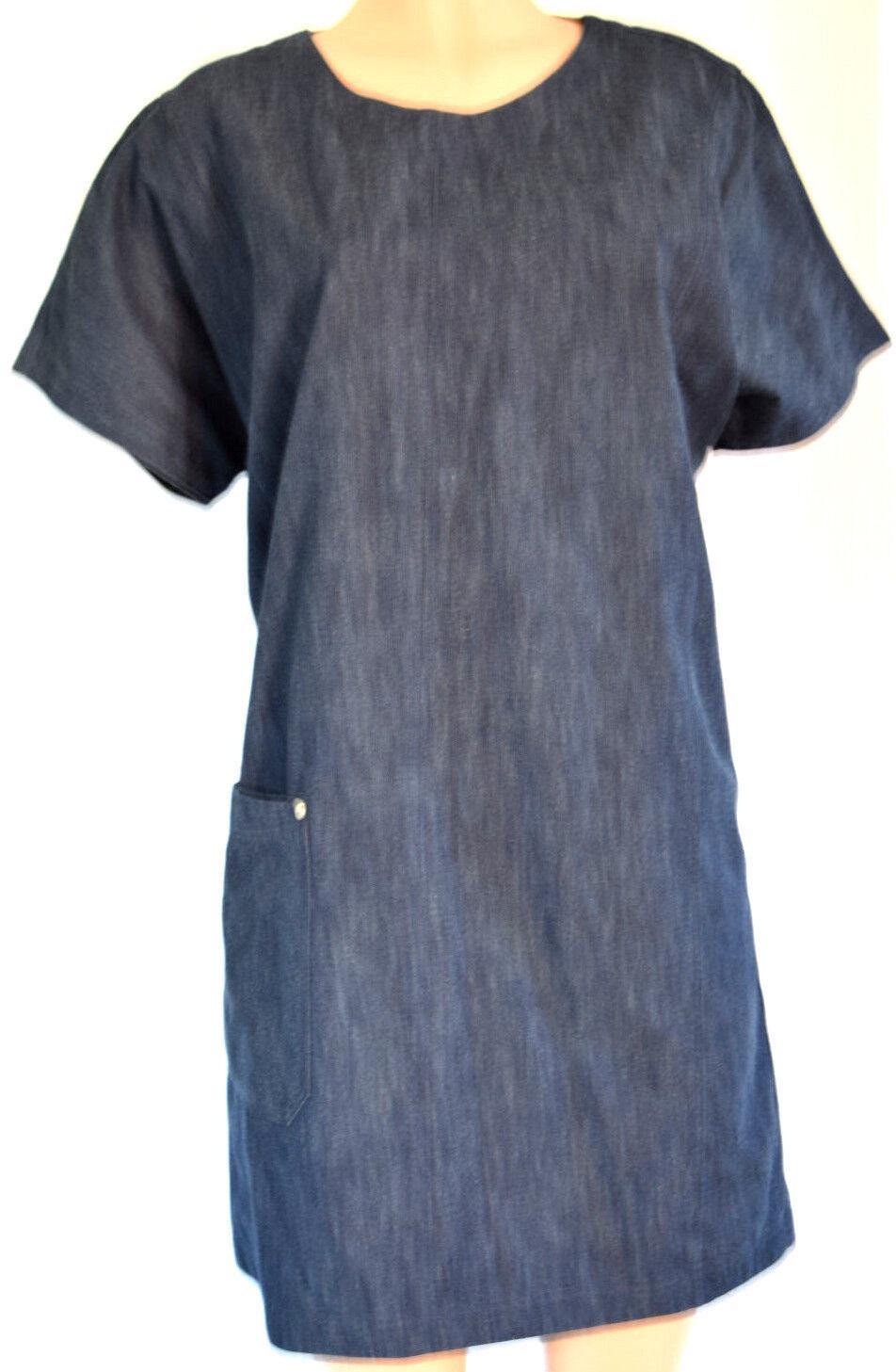 Reg & Bone Azul Denim Mangas Cortas Vestido Túnica Talla  Grande  oferta especial