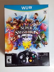 Super-Smash-Bros-LIMITED-EDITION-Wii-U-COMPLETE-w-Controller-amp-Adapter-SEALED