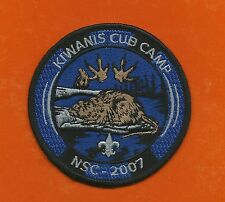SCOUT BSA 2007 KIWANIS CUB CAMP BEAVER NORTHERN STAR COUNCIL MN WI PATCH BADGE !