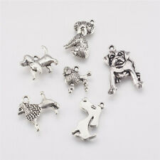 30pcs Dog Charms Animal Dog Lover Rescue Charm Antique Silver Tone 14x24mm 1507