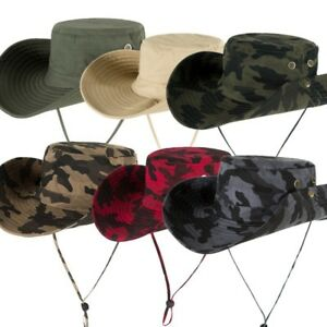 ddaf7c844f8 Outdoor Sun Safari Bucket Hat Cap UV Protection Wide Brim Fishing ...