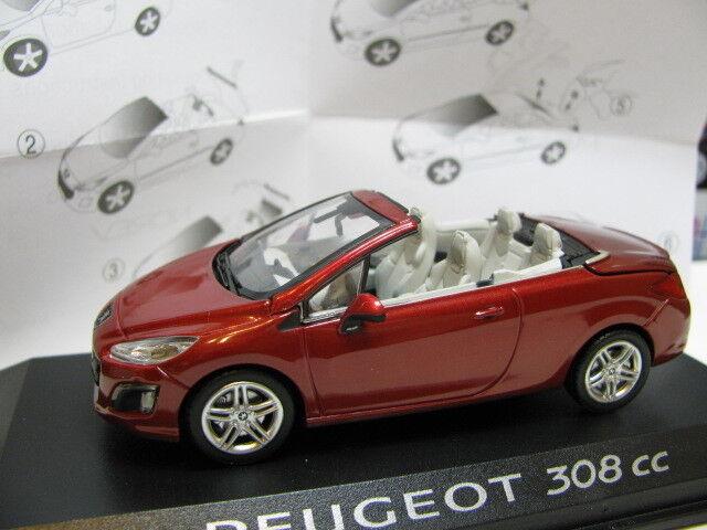 1 43 Norev Peugeot 308 cc (removeable roof) diecast