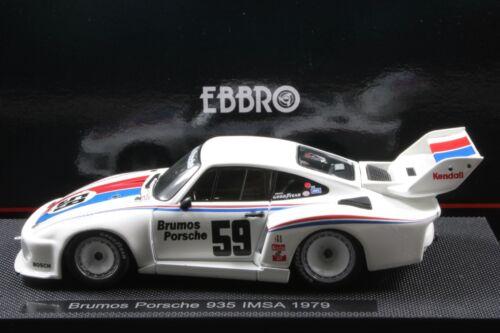 Ebbro 44134 1:43 Scale  Brumos Porsche 935 IMSA 1979 Die Cast Model Racing Car