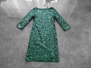 Apart Glamour Cocktail Party Abend Pailletten Kleid Gr Xs 34 Grun Ebay