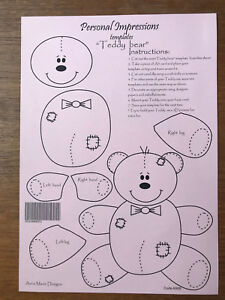 Scrapbooking Crafting Template Card Making Teddy Bear