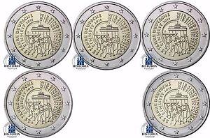 Deutschland-5-x-2-Euro-Deutsche-Einheit-2015-im-Komplettsatz-lose-Mzz-A-D-F-G-J