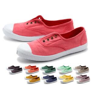 Womens Canvas Sneaker Victoria Slip On