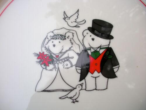 """BRIDE /& GROOM Charger Plate /& Mrs SANTABEAR Mr 2000-12/"""" Inches Christmas"""