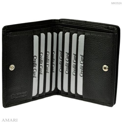 AMARI kleine Geldbörse mit RFID-Schutz Wiener Schachtel Portemonnaie Geldbeutel