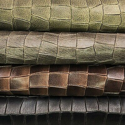 Snake Leather Sheets //// 8x10in Leather Pieces //// Embossed Lambskin //// Genuine Le