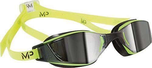 MP Michael Phelps XCEED Swimming Goggles YellowBlackMirror Lens