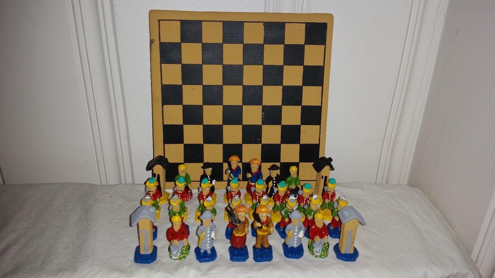 Von hand bemalt und lateinamerika (mexiko).keramik - spiel schachfiguren
