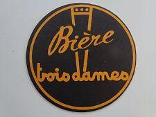 Beer Sous-Bock COASTER ~ Brasserie TROIS DAMES Biere ~ Saint-Croix, SWITZERLAND