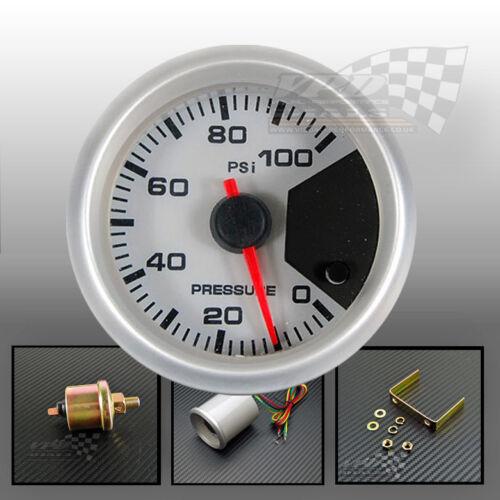 Oil pressure gauge sender stepper motor 7 colour 52mm 2 dash display panel pod