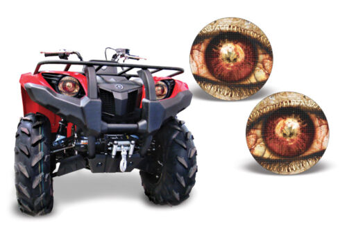 Headlight Eye Graphics Kit Decal Cover For Yamaha Grizzly 350//400//660 ZIPPED