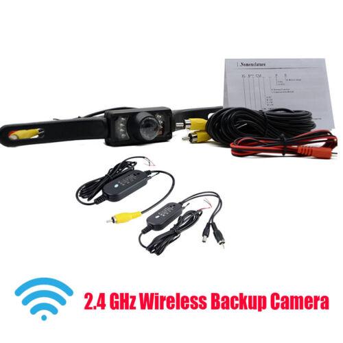2.4 GHz Wireless Car Backup Rear View Parking Night Vision Reversing Camera Kit