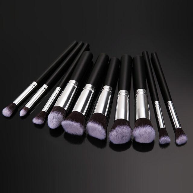 10PCS Pro Makeup Cosmetic Brushes Set Face Eyeshadow Nose Foundation Lip Brush