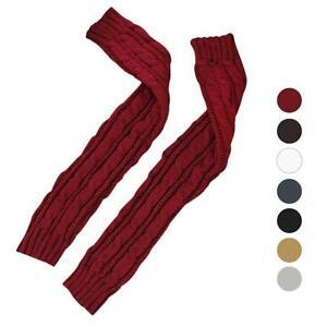Women-Winter-Warm-Fingerless-Knitted-Long-Gloves-Mitten-Wrist-Arm-Hand-Warmer