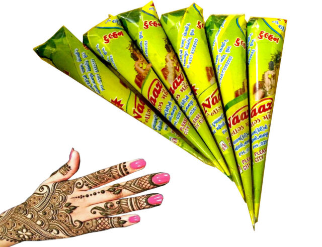 Naaz Henna Tattoo Cones Temporary Organic Body Design Art Heena