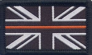 The Thin Orange Line Search  Rescue Woven Badge Patch Union Jack
