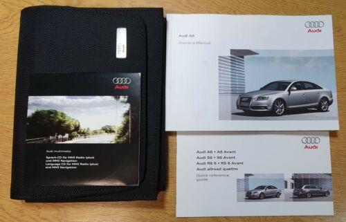 GENUINE AUDI A6 OWNERS MANUAL HANDBOOK WALLET MULTIMEDIA CD 2008-2011 # L-1034