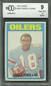 1972-topps-244-CHARLIE-JOINER-houston-oilers-rookie-card-CENTERED-BGS-BCCG-9