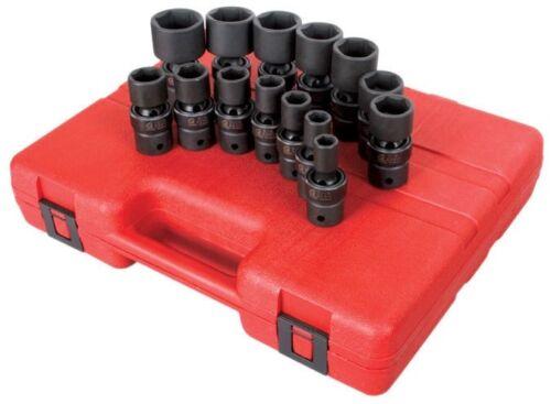 "Sunex 14pc 1//2/"" SAE 6pt Universal Impact Sockets Set Tools Drive Swivel 2644"