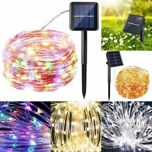 100-200LEDs-solarbetriebene-String-Kupfer-Fee-LED-Licht-Xmas-Party-wasserdicht