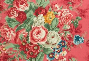 Cottage-Shabby-Chic-Quilt-Gate-Mary-Rose-Lge-Deep-RoseFloral-Julia-BTY