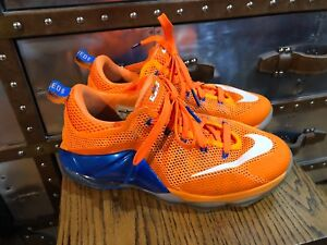 huge discount 910c3 88175 Image is loading NIKE-LEBRON-XII-12-LOW-GS-ORANGE-BLUE-