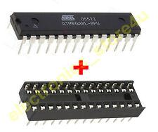 ATmega8L-8PU Atmel AVR 8 Bit 8 Mhz Microcontroller IC DIP 28 + IC Base - 1 Piece