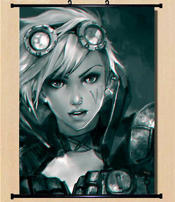 Home Decor Wall Scroll Poster LoL League of Legends The Piltover Enforcer Vi