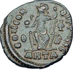 GRATIAN-Original-378AD-Antioch-Authentic-Ancient-Roman-Coin-Rome-as-Roma-i65919