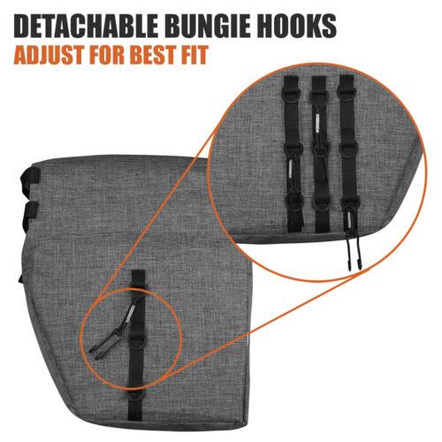 BV Bike Pannier Bag w// Adjustable Hooks /& Carrying Handle Rear Carrier Bag 26L