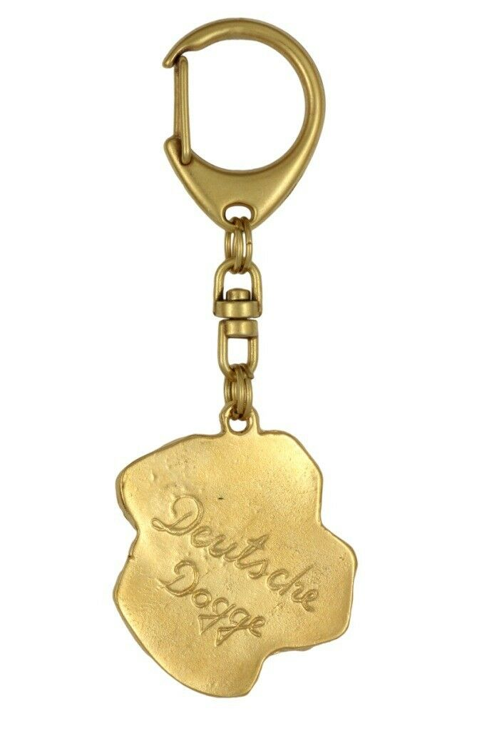 Great Dane type 2 - oro oro oro covered keyring with dog, quality, keychain Art Dog 0a95cb