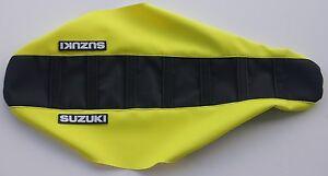 New NEON FLO YELLOW SUZUKI Ribbed Seat cover RM85 2002-2017