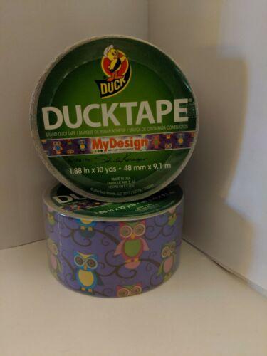 Duck Tape Brand crafts Arts /& Craft New 1.88 in X 10 yd Owls My design