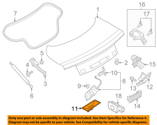 FORD OEM Trunk Lid-Lock Cover DS7Z54432A30B