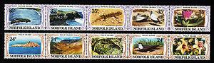 1982-Norfolk-Is-Philip-amp-Nepean-Islands-MUH-Strips-of-5