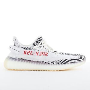 bc756799eee4a YEEZY BOOST 350 V2 ADIDAS black white zebra knitted chunky sole ...
