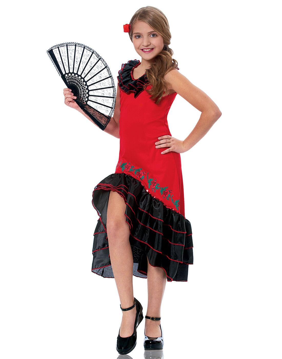 Senorita Tänzer Mädchen Kind Spanischer Flamenco Performer Tänzer- Kostüm | Große Klassifizierung