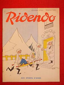 REVUE-HUMORISTIQUE-RIDENDO-N-227-FEV-1959-AUX-SPORTS-D-039-HIVER